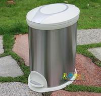 Oval shape pedal 20 rubbish bucket kitchen trash bucket large garbage bucket stainless steel