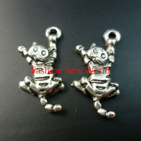 Wholesale diy jewelry Accessories!!! 321pcs cat Antique Silver  Metal Pendant fashion charms C0967