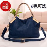 Women's handbag fashion quality 2013 crocodile pattern handbag one shoulder cross-body women's big bags female