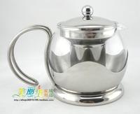 Stainless steel tea set glass lotus teapot coffee pot 750ml