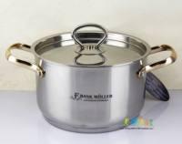 18-22cm stainless steel pot compound sole soup pot food supplement pot small soup pot quality gold handle