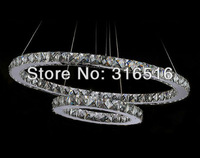luxurious led crystal chandelier manufacturer free shipping D600+400mm free shipping