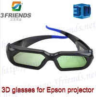 Active shutter glasses for Epson projector 2013 New arrivel 2pcs/lot black 3d glasses for projector