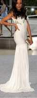 DHL free shipping sexy maxi bandage dress evening bandage dress prom dress white