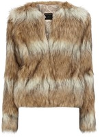 free shipping Plus size fashion colorant match fur coat