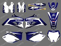 0019New Style TEAM  GRAPHICS&BACKGROUNDS DECALS STICKERS Kits  for YAMAHA YZ250F YZ450F 4 STROKES 2006 2007 2008 2009