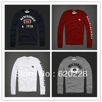 100% cotton t-shirt men four season long sleeve,fashion men t shirt sports, brand 2013 good quality free shipping
