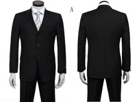 Free Shipping!!!Hot Sale Fashion Three Buttons Men's Suit Slim Fit Men's Business Suit Set  Dress Suits Size  S-4XL