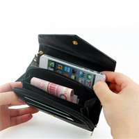 New updated version pu leather crown smart pouch / mobile phone bag / card case /pu wallet,Wholesale Price!