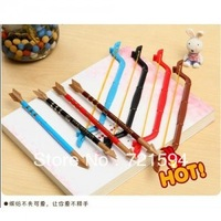 Free Shipping hot sall Creative stationery toys two ballpoint pen bow and arrow School Stationery Gift pen