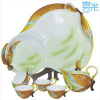 Porcelain enamel butterflies tea set teaberries ceramic kung fu tea set bone china tea set