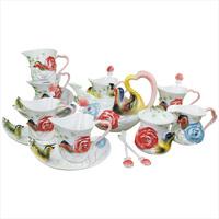 Mandarin duck fashion coffee cup set bone china coffee cup ceramic coffee set