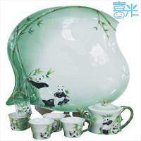 Ceramic kung fu tea teaberries set porcelain enamel tea set bone china tea set