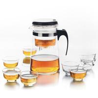 Meters elegant cup glass tea pot herbal tea set 8 glass cup