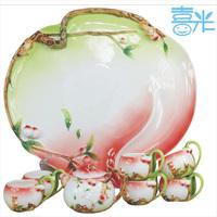 Porcelain enamel golden monkey tea time set bone china tea set ceramic kung fu tea birthday gift