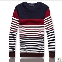 Free shipping 213 men's new winter line unlined upper garment sweater sweater knit collar stripe