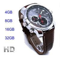 IR Night Vision 1920*1080 wrist watch Waterproof Video DVR 1080p hd Infrared 4GB 8GB 16GB 32GB Watch camera