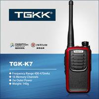 UHF intercom, TGK-K7 red color 3W two way radio