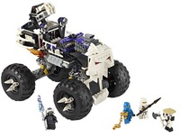 BELA 9736 493pcs 2013 large Ninjago Ninja minifigures Skull Truck weapons building block sets Jigsaw eductional children toys