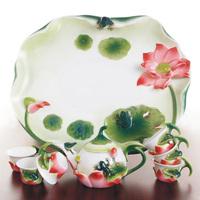 Frog ceramic blue and white porcelain enamel tea set teaberries set