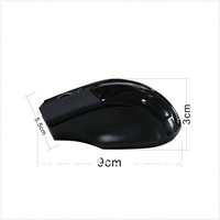 Black 2.4GHz Mini Gaming Wireless Laser Mouse 1200dpi free shipping
