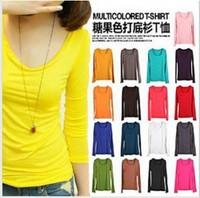 Free shipping new 2013 fashion women milk silk t shirt woman long sleeve casual t shirts tops & tee t shirt for women Blouses