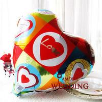 Free Shipping Hot-selling 18 aluminum balloon heart balloon decoration balloon