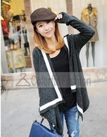 Fashion Irregular Edge Cardigan Long Sleeve Women Sweater