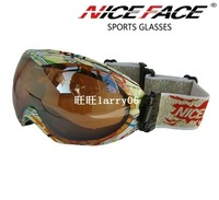 Sg266 nice face double layer anti-fog skiing wide angle mirror box flower mirror box