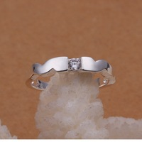 Free Shipping!! Hot  Wholesale Brand New Fashion 925 Sterling Silver BO WEN Ring CR49 Size 8