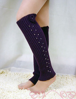 Wholesale 12pairs/lot, 4 colors, women's fashion new casual style flower's striped knitted cashmere leg warmers hosiery