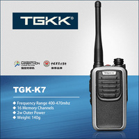 handy ham radio: TGK-K7 silvery color small walkie talkie