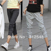 Free shipping & Drop shipping Women Haroun Pants Trouser SportWear Sports Elastic Waist Capris Cropped Fashion CY0624