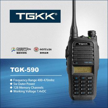 best handheld ham radio TGK-590 UHF 400-470 MHz walkie talkie