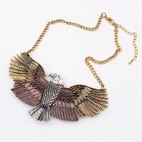 18 k gold eagle wings fashion necklace restoring ancient ways women's accessories - 91451