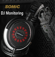 Free shipping MH463 Stereo Headband Headphone multimedia Headset/HIFI Professional DJ Monitoring Headset
