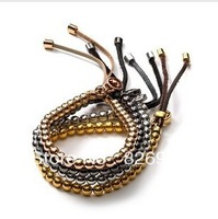 2015 New Arrival for Women 20 pcs/lot Brand Free shipping Fashion Jewelry Elegant Bead Stretch Leather Bracelet 4 Colors