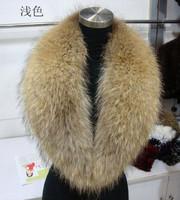Large raccoon fur collar muffler scarf fur collar scarf collar raccoon fur cap of cloak