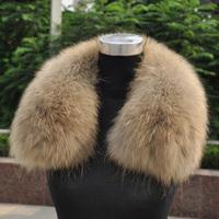 Big raccoon fur collar real fur to keep warm in winter