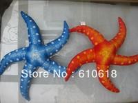 Free Shipping Red Blue Starfish Stuffed Plush Glass Sucker Toys Dolls Gifts Car Home Decor Toys 1 Pcs