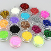 18 Different Colors Nail Art Glitter Powder Dust Decoration Free Shipping