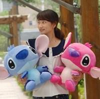 Free shipping 20cm 1PCS  blue & pink Large stitch plush toy doll for soft plush toy birthday gift