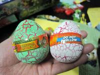 4*6CM 60pecs/lot New colorful crack growing dinosaur eggs Easter egg educational expansion toys for cheildren
