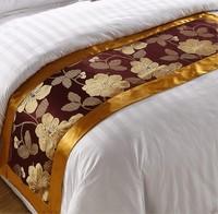 Freeshipping 50*210cm jacquard  bedding runner mat luxury home hotel ornament  promotion