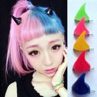 24pcs(not pair)Free Shipping Fashion Halloween hair clip hairpin Zombie Punk ox horn hairwear hairpin bobby pins