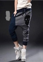 2014 spring and autumn women's big crotch pants harem pants patchwork skull casual pants ZGL0103