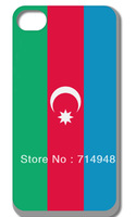 Wholesale FREE SHIPPING Azerbaijan National Flag Hard case skin for iphone 4 4s 4th 10pcs/lot