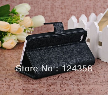 DHL Free shipping Lichi Leather Cases for iphone 5,  50pcs/lot