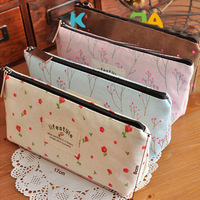 Free Shipping Popular 5pc/Lot Flower Foral Pattern Cosmetic Case Makeup Bag 4 Styles Fot Options