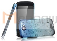 Hot sale IMAK raindrop back hard case for HTC One S cover, with retail package + screen protector/Jill